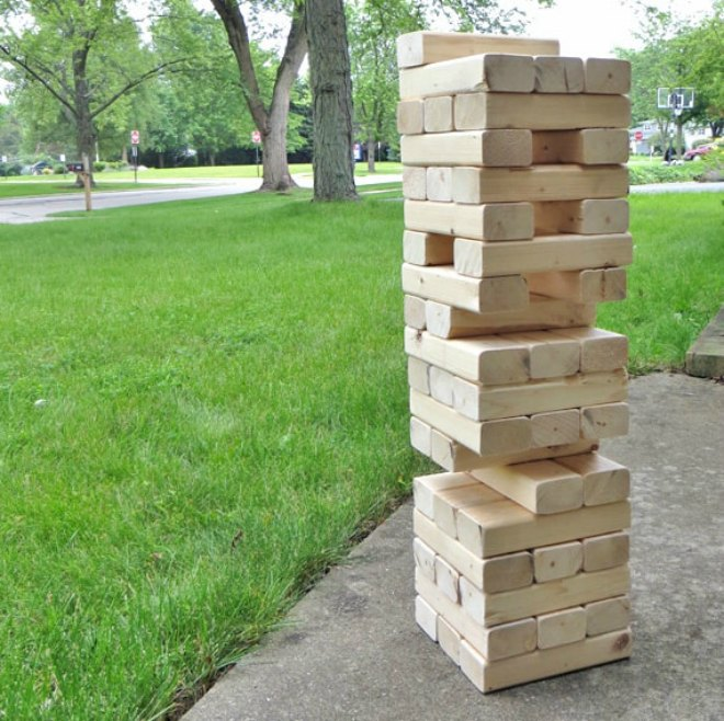 Outdoor Jenga Game