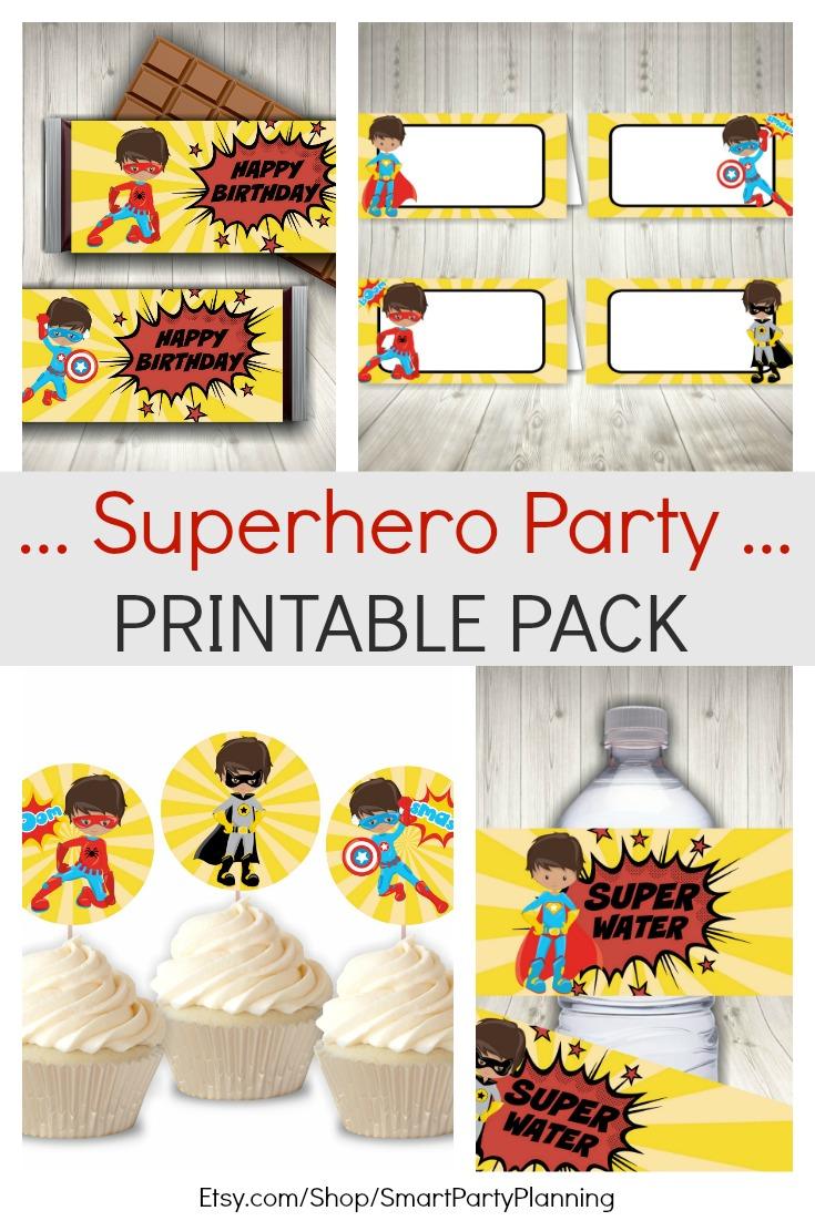 Superhero Party Printable Pack