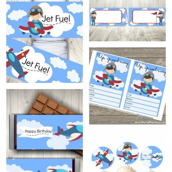 Airplane Party Printables Featured