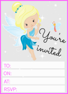 Pink Fairy Invitation example