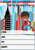 Superhero Party Invitation free