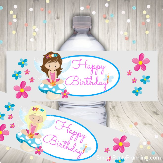 Water bottle fairy printables