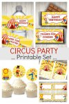 Circus Party Printables