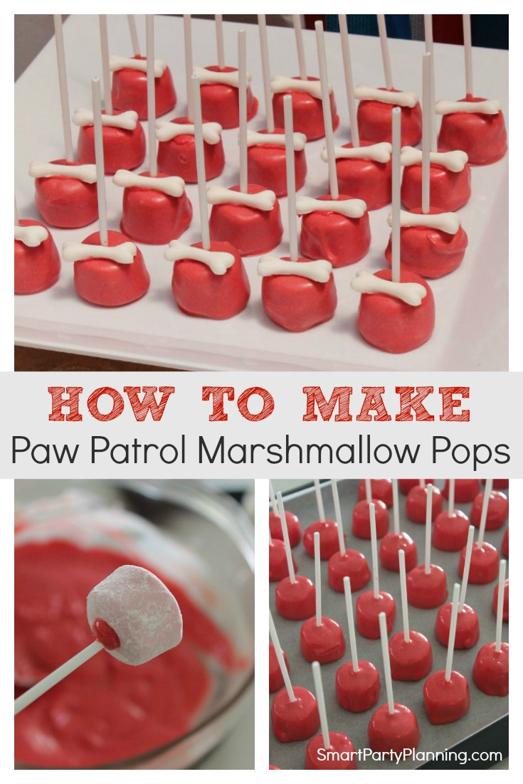 How to make Paw Patrol Marshmallow Pops