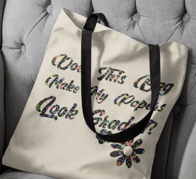 Infusable ink tote bag