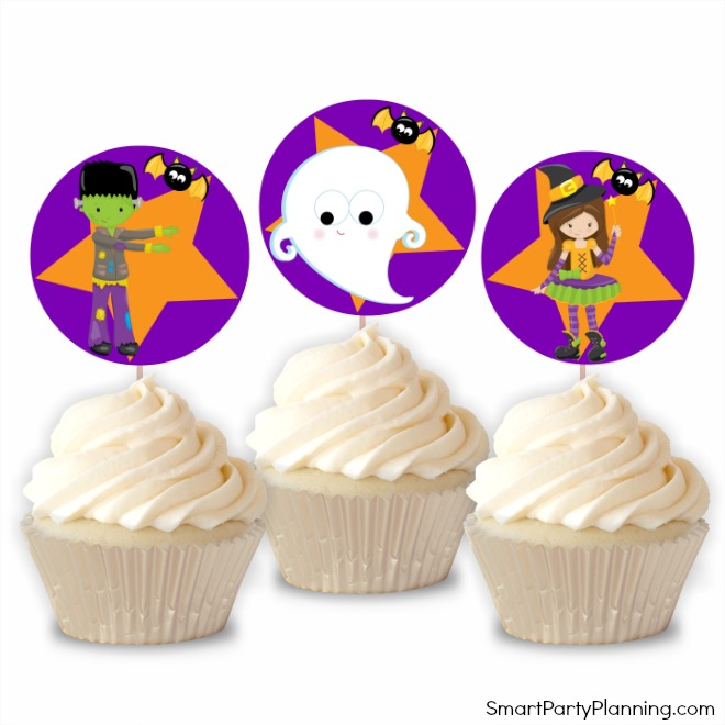 Cute Halloween cupcake toppers