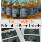 Printable Halloween Beer Labels