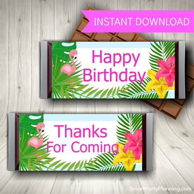 Tropical Candy Bar Wrappers