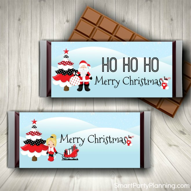 Christmas Printable Candy Bar Wrappers