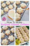 How To Make Tropical Flower Cupcakes