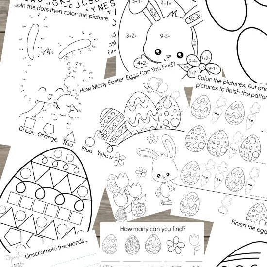 Fun Kids Easter Activity Printable Pack