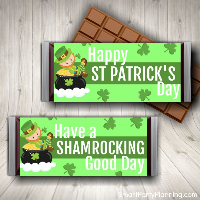 St Patricks Day Candy Bar Wrappers