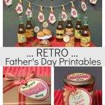 Fun Fathers Day Retro Printables