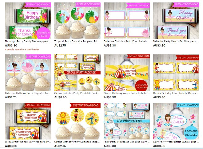 Smart Party Planning Etsy Shop Example