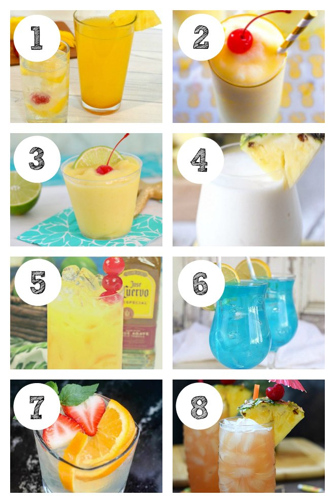 Luau Cocktail and Mocktail Drinks