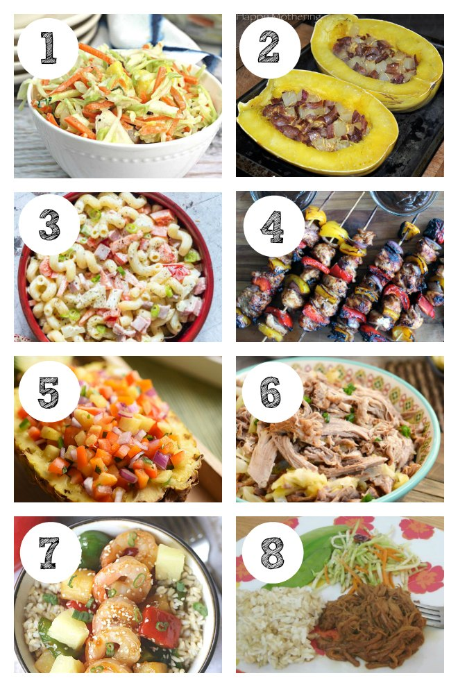 Savory Luau Party Food