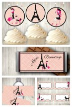Paris Party Printable Set