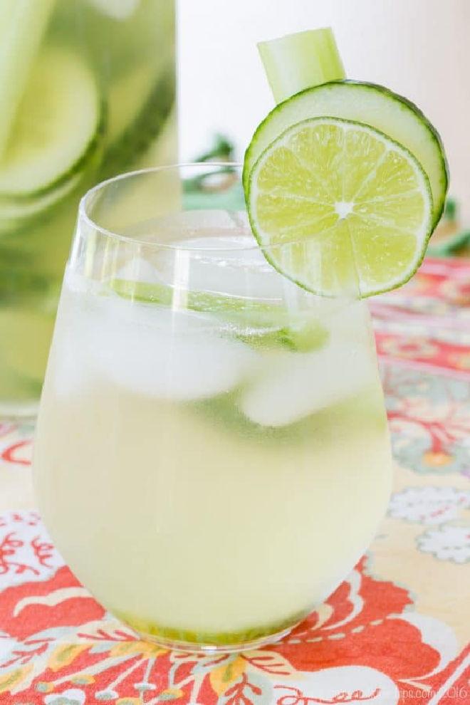 Celery Cucumber Gimlet White Sangria Recipe