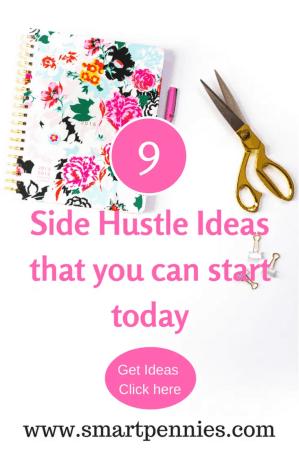 9 side hustle ideas