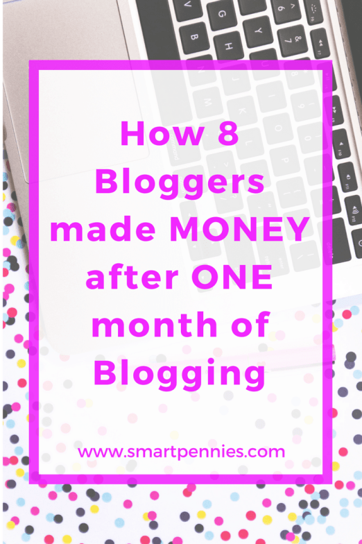 how 8 bloggers made money after one month of blogging