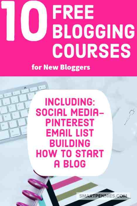 10 free blogging course to help new bloggers