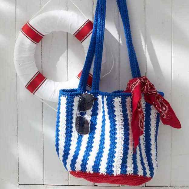 lILY SUGAR N CREAM NAUTICAL STRIPED BAG