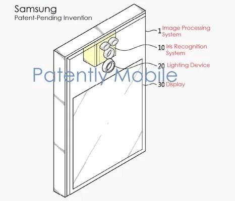Galaxy Note7の虹彩認証の特許図面がリーク!