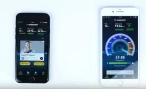 iPhone7とiPhone7 Plusのスピード比較