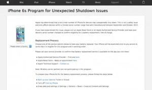 AppleがiPhone6sの突然落ちる不具合の修理プログラムを開始