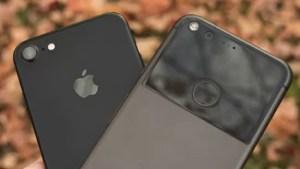 Google PixelとiPhone7 デザイン比較
