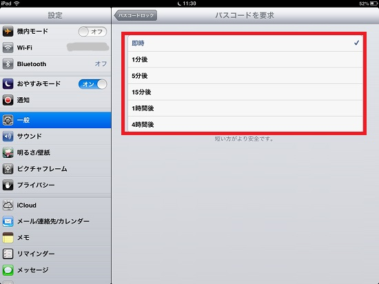iPad mini passcode lock11