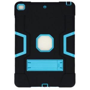 iPad (2019) 10.2 inch zwart - lichtblauwe Shockproof Case achter