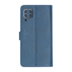 Huawei P40 Lite Marineblauwe Bookcase Polar Bear achter