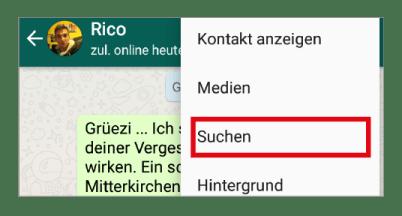 WhatsApp-Tipp: In einem Chat nach Text und Bildern suchen
