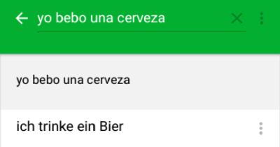 PONS Übersetzer Beispielsätze Screenshot