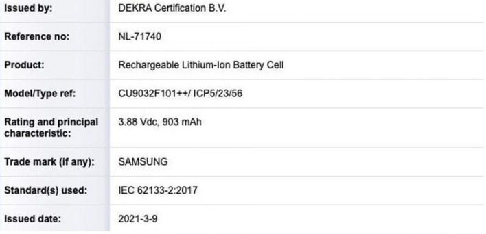 Samsung Galaxy Z Flip 2 Dekra