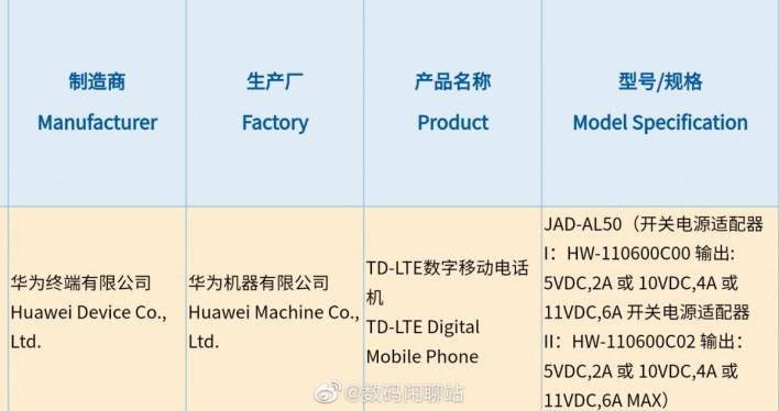 Huawei P50 3C-Zertifizierung