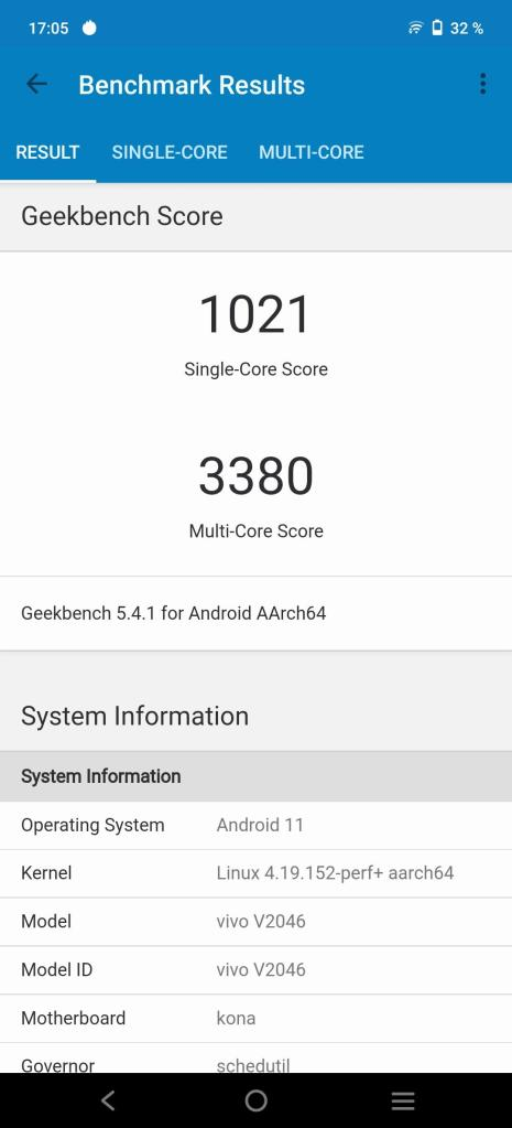 Vivo X60 Pro 5G Geekbench