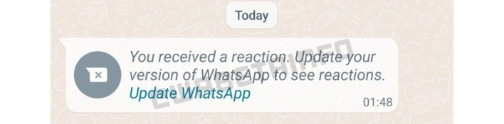 WhatsApp Message Reaktionen