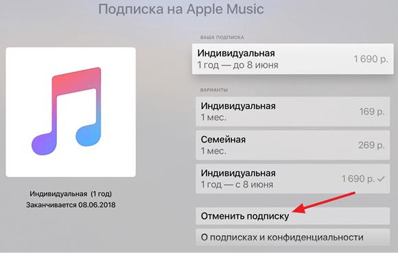 Annuller abonnement via Apple TV