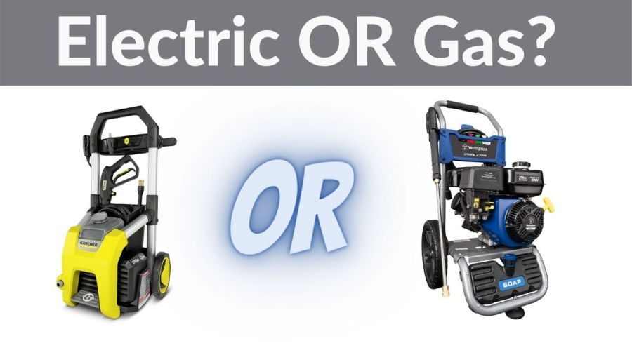 electric or gas pressure washers