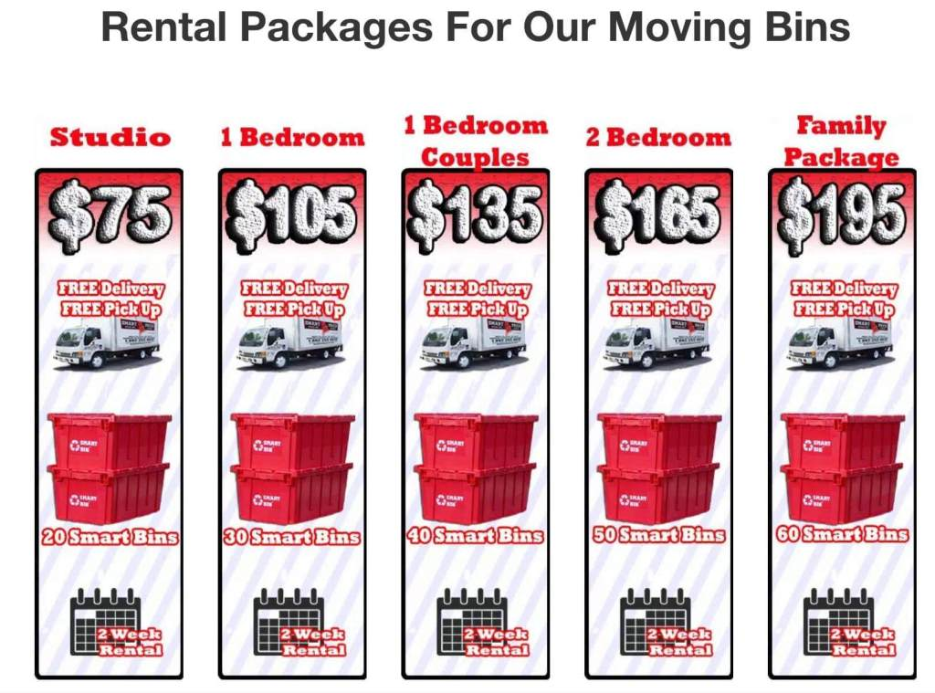 Plastic Moving Boxes Rental Prices