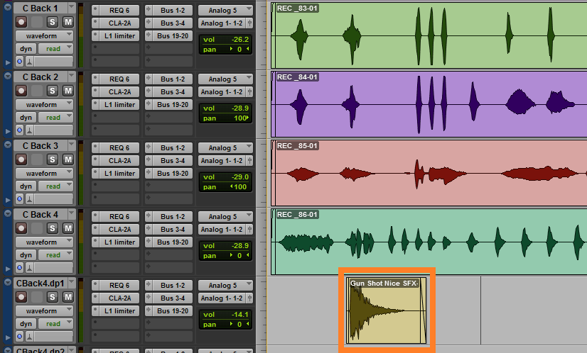 sound effects in protools