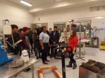 Victoria Calabro giving a tour of UrbanGlass