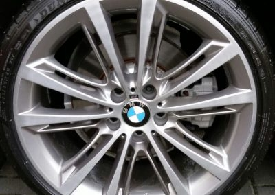 Photo of a repaired diamond cut alloy wheel