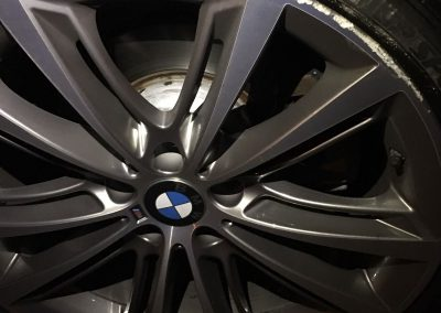 Photo of BMW diamond cut alloy wheel that requires a rim repair