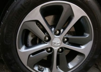 Image of a repaired Hyundai diamond cut wheel
