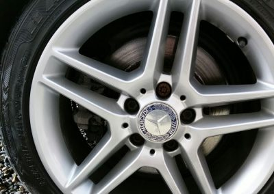 Image of a badly damaged alloy wheel