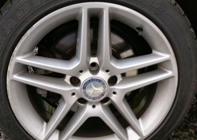 Mercedes Alloy Wheel Repair Before