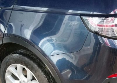 Image of a completed car bumper paint repair